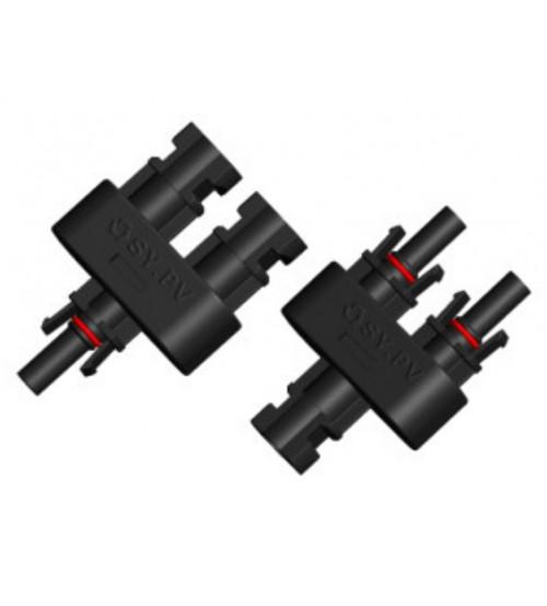 MC4 Branş Konnektörü - 2'li bağlantı - 1 Dişi 1 Erkek