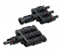 MC4 Branş Konnektörü - 3'lü bağlantı - 1 Dişi 1 Erkek