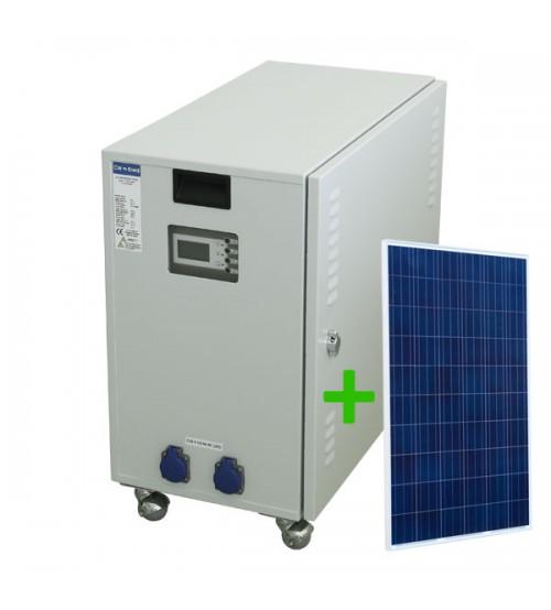 Solar Jeneratör Eko 1 Panelli, 1000 Watt İnverter, 1 Adet 120 Ah Solar Akü, 3 Adet 165W Panel