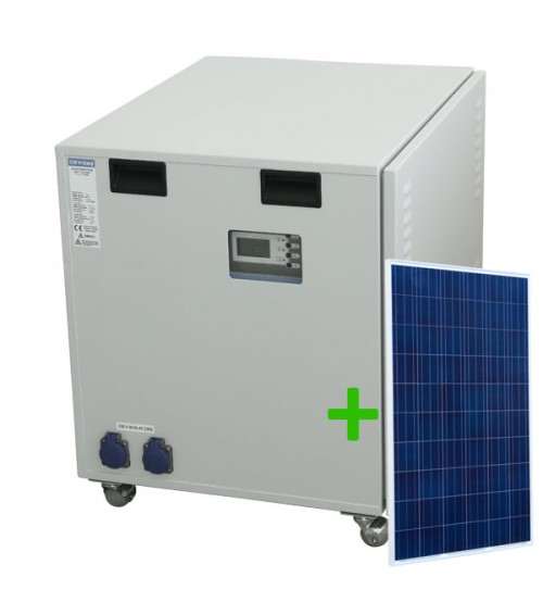 Solar Jeneratör Maxi Panelli, 5000 Watt İnverter, 4 Adet 200 Ah Solar Akü, 12 Adet 275W Güneş Paneli