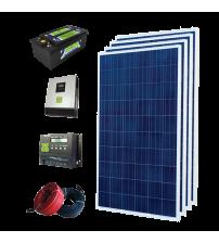 Solar Paket 1 kW - Lamba, TV, Uydu, Orta Boy Buzdolabı, Ev Aletleri, Su Pompası ve Şarj