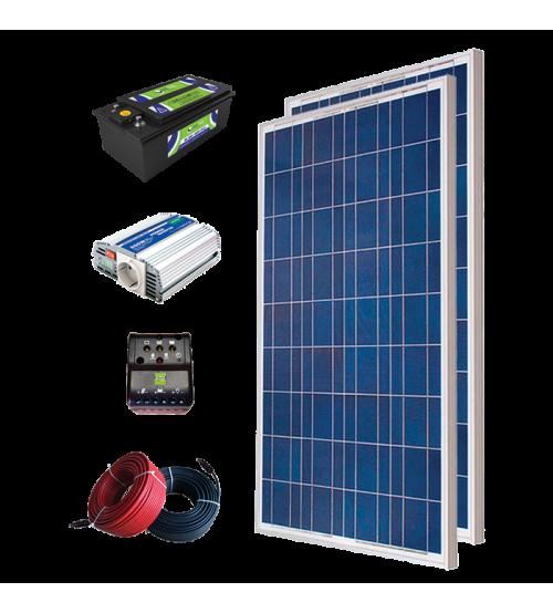 Solar Paket 200 - Lamba, TV, Uydu ve Şarj