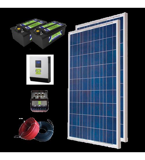 Solar Paket 500 - Lamba, TV, Uydu, Büro Buzdolabı ve Şarj