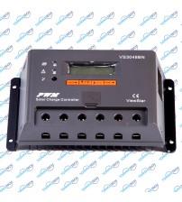 Şarj Kontrol Cihazı LCD Ekranlı 30A 12/24/48V - VS-BN Serisi